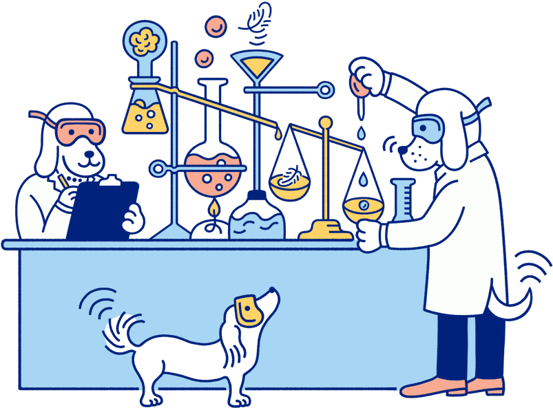 Illustration (Dogs in Lab)