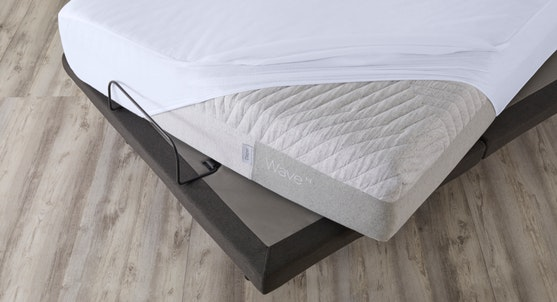 Adjustable covered with a mattress and a mattress protector