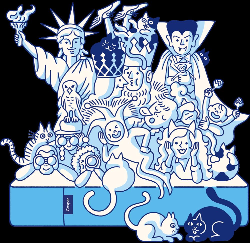 Casper Mattress with Cartoons