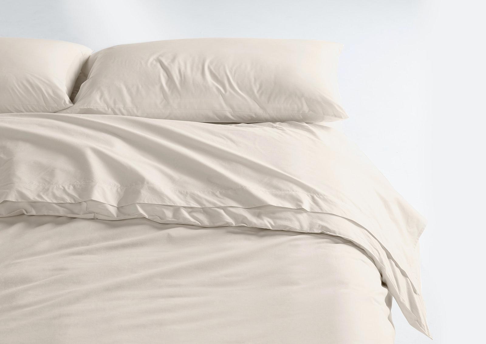 Cool Supima® Sheet Set + Duvet Cover, Cream