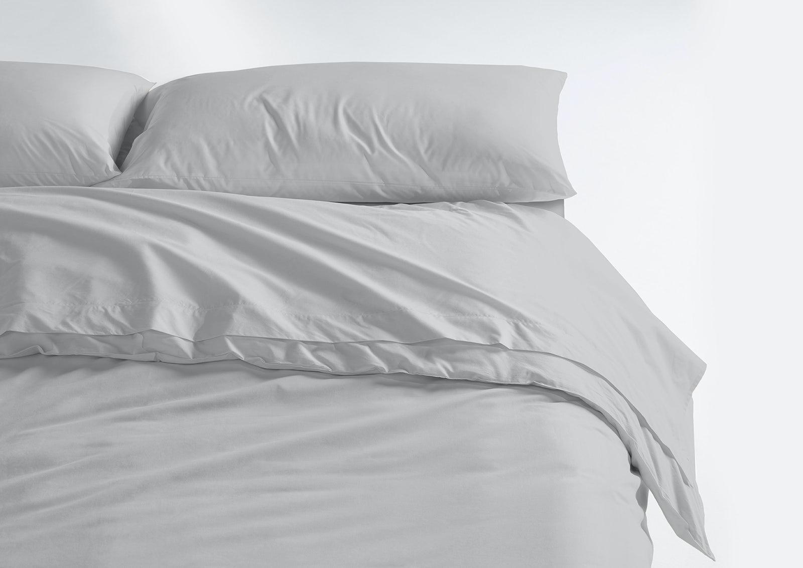 Cool Supima® Sheet Set + Duvet Cover, Gray