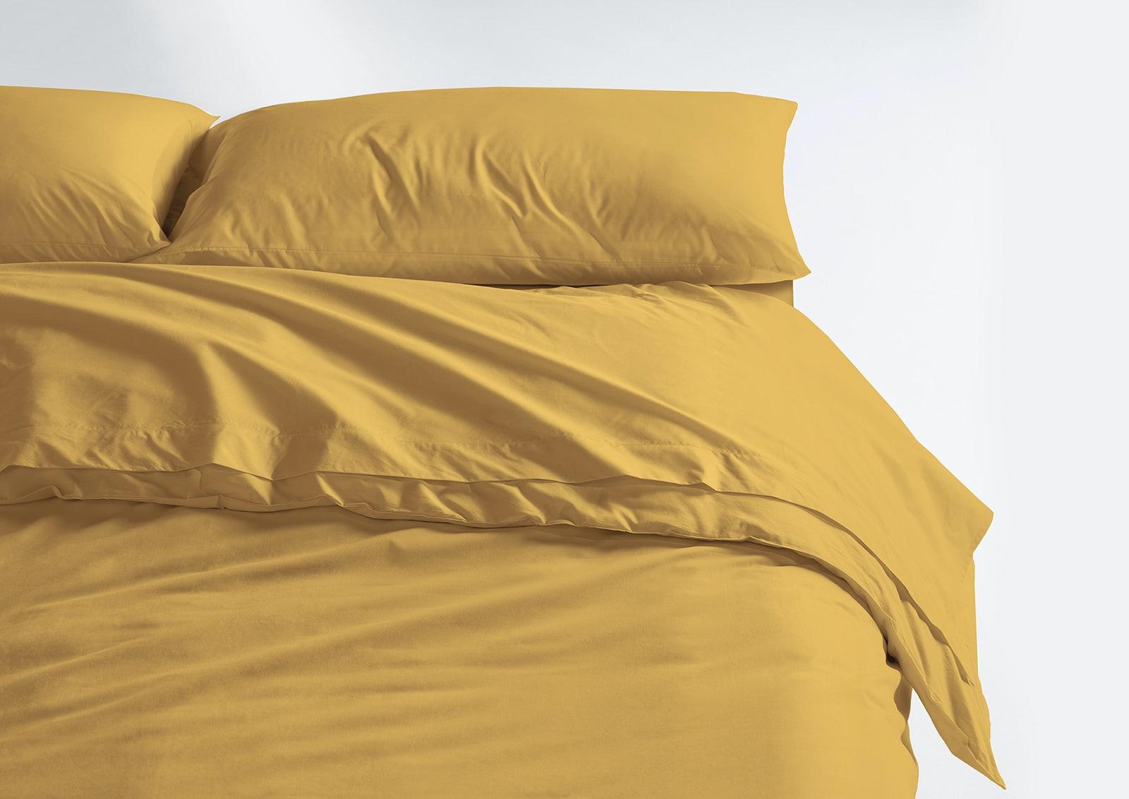Cool Supima® Sheet Set + Duvet Cover, Honey
