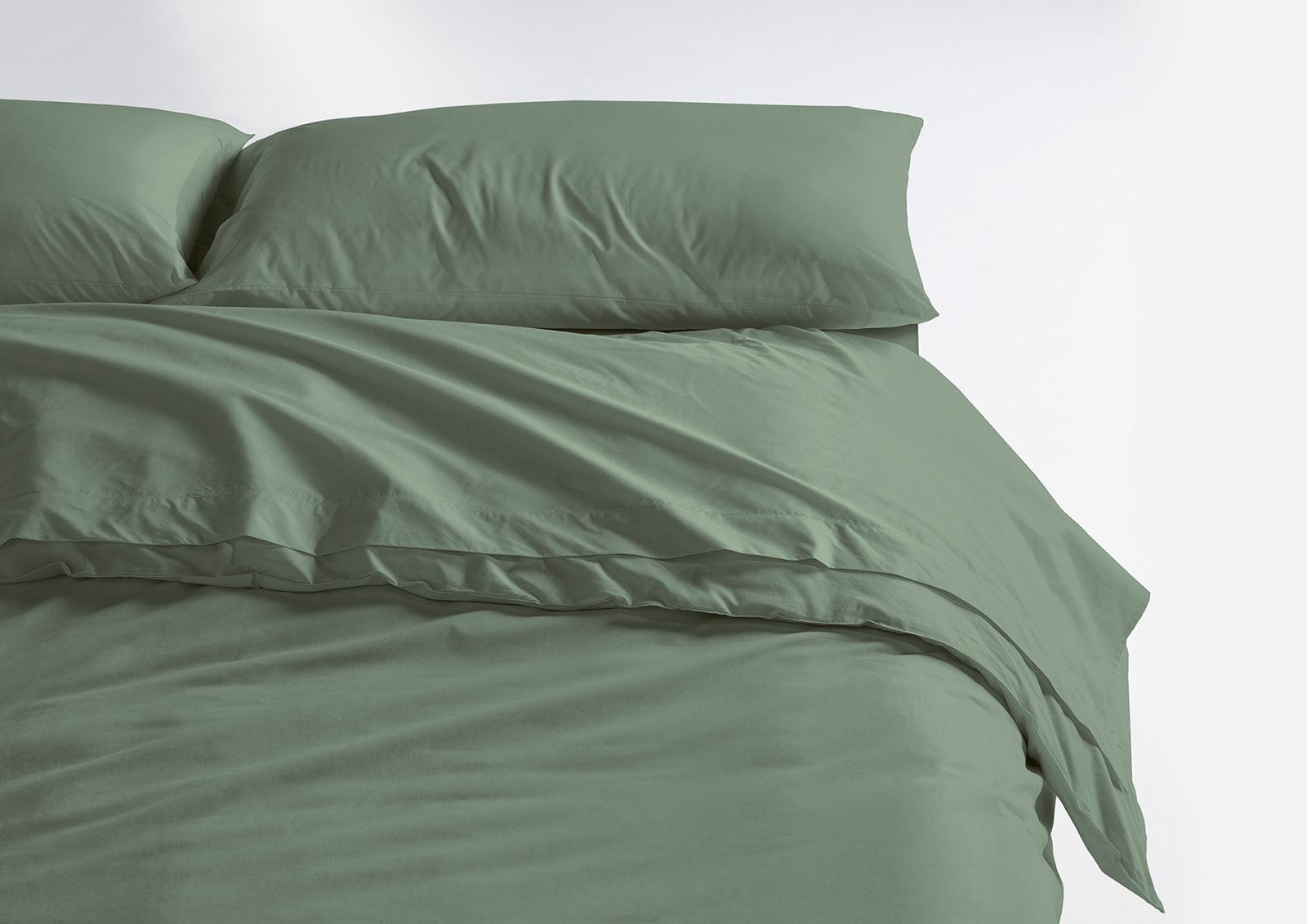 Cool Supima® Sheet Set + Duvet Cover, Jade