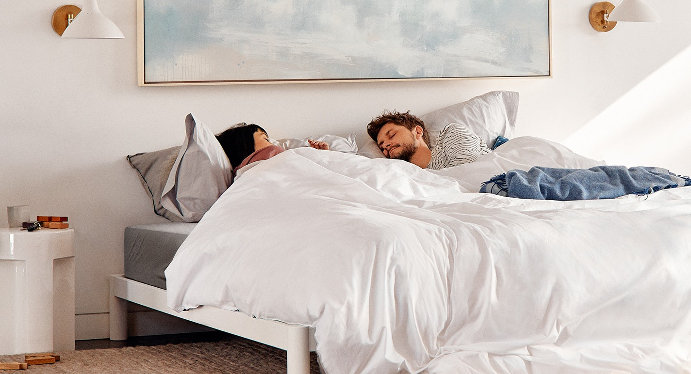 Couple in Casper Supima Sheets - Up to 40% off