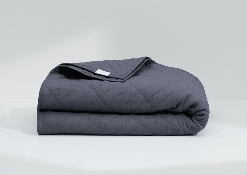 Airy Linen Quilt, Coal