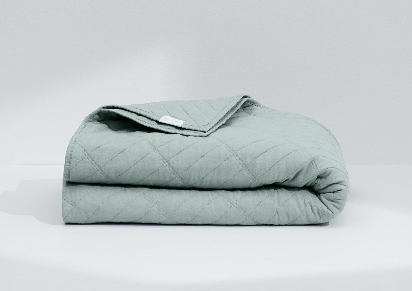 Airy Linen Quilt, Sage