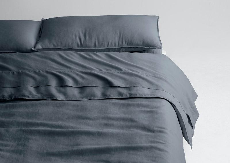 Airy Linen Sheet Set + Duvet Cover, Charcoal