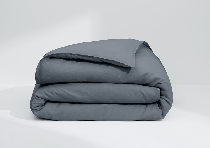 Airy Linen Duvet Cover, Charcoal