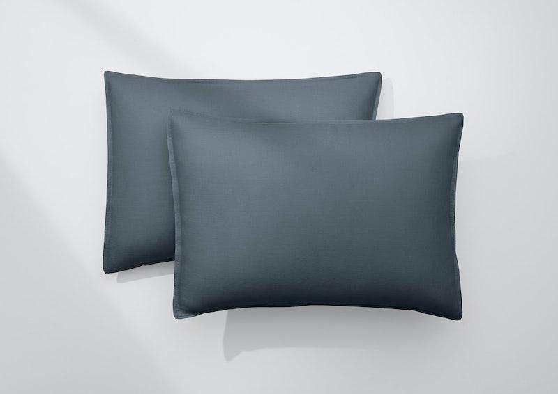Airy Linen Pillowcase Set, Charcoal