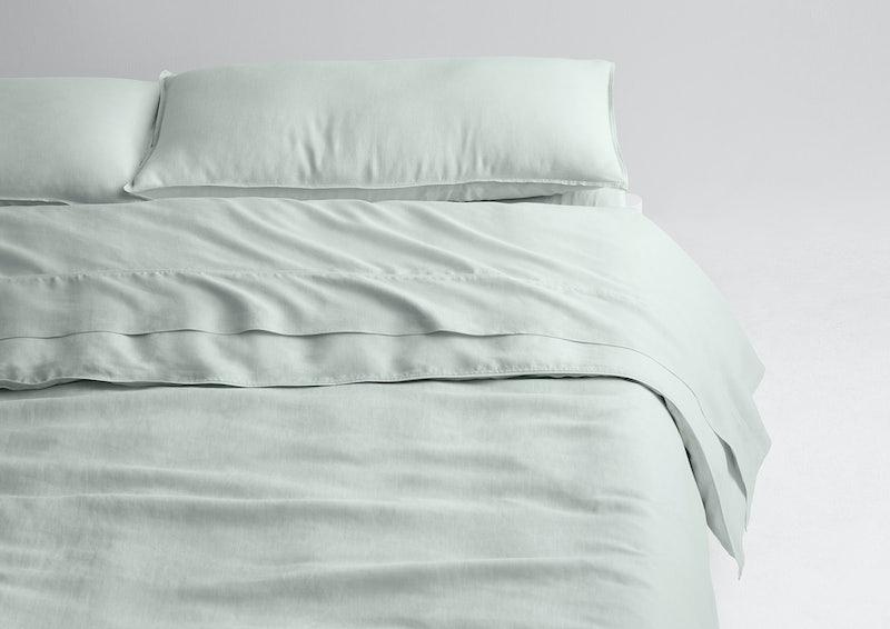 Airy Linen Sheet Set + Duvet Cover, Mist