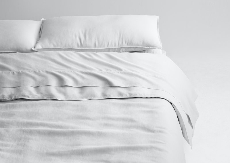 Airy Linen Sheet Set + Duvet Cover, White