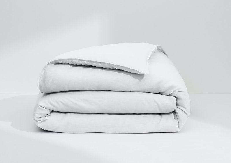 Airy Linen Duvet Cover, White
