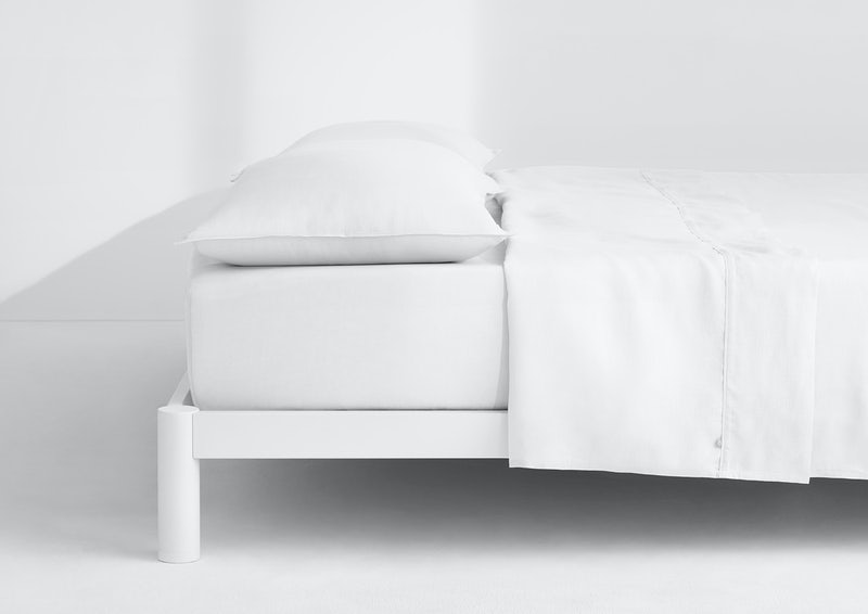 Airy Linen Sheet Set, White