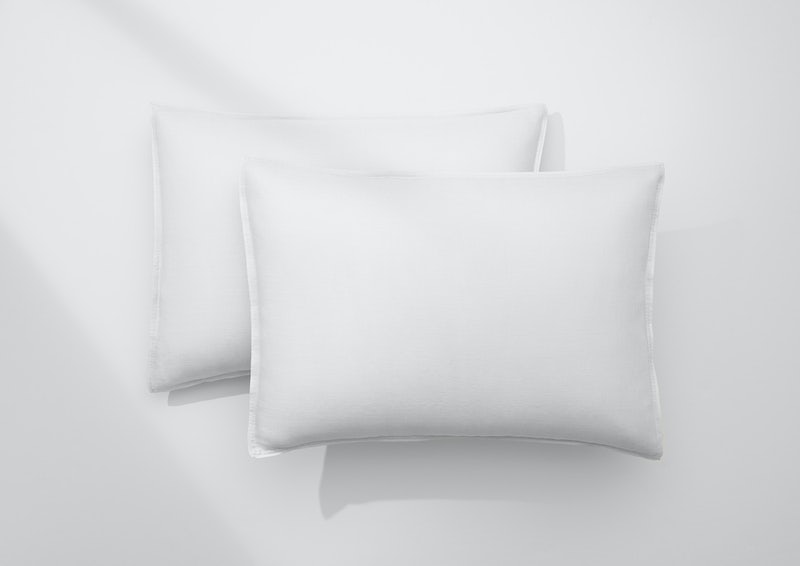 Airy Linen Pillowcase Set, White