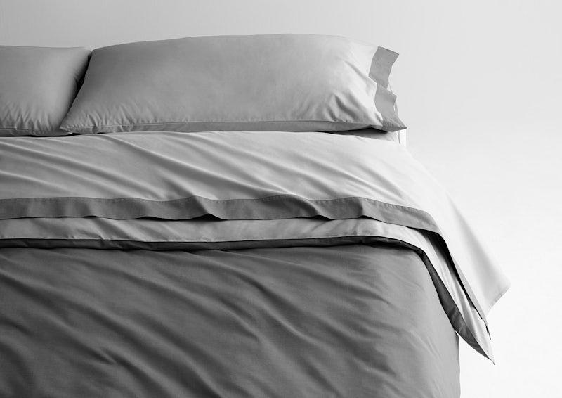 Cool Supima® Sheet Set + Duvet Cover, Gray / Slate