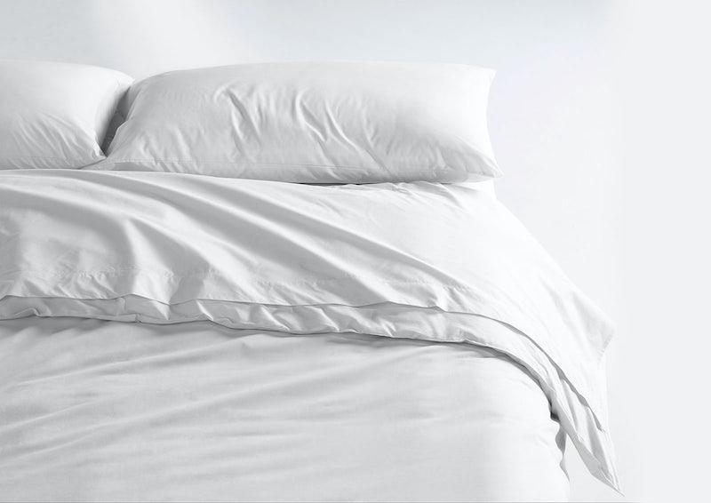 Cool Supima® Sheet Set + Duvet Cover, White