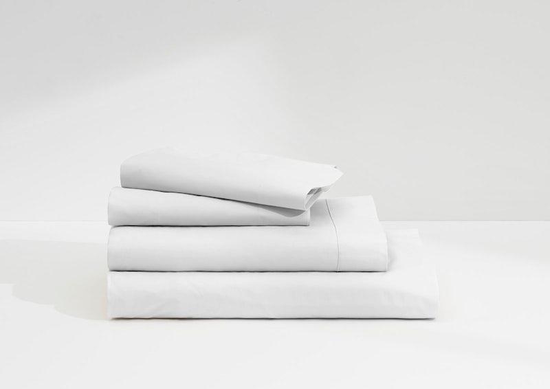 L'ensemble de draps satin de coton, Blanc