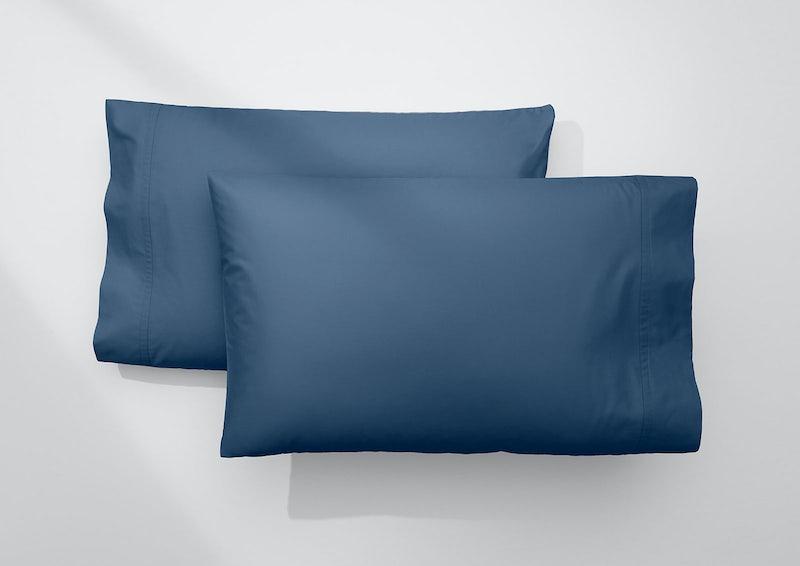 Weightless Cotton Pillowcase Set, Marine