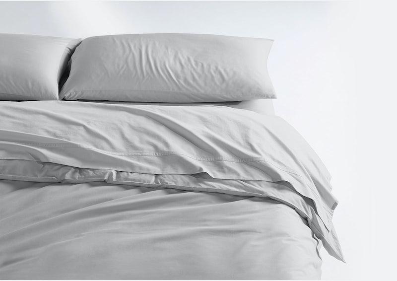 Weightless Cotton Sheet Set + Duvet Cover, Quiet Gray