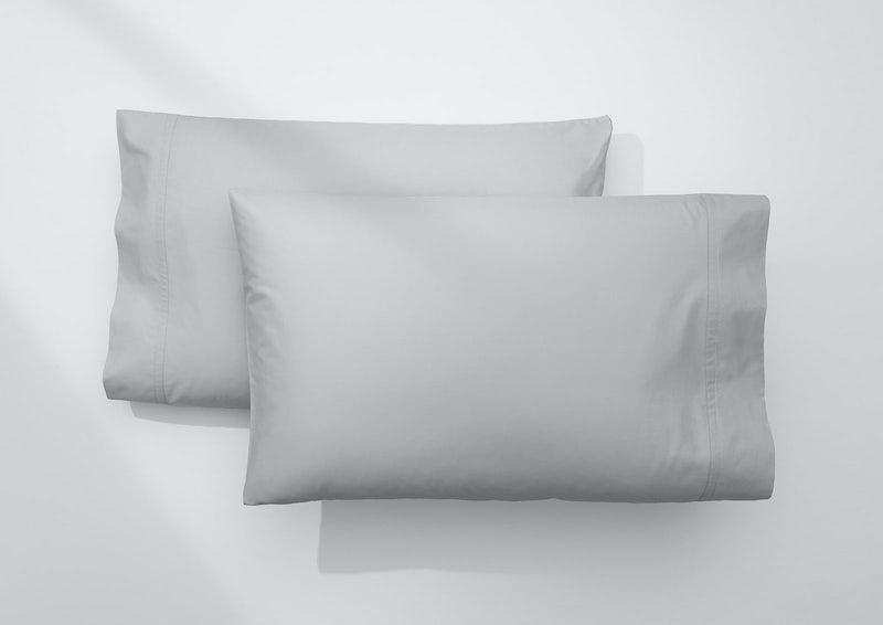 Weightless Cotton Pillowcase Set, Quiet Gray