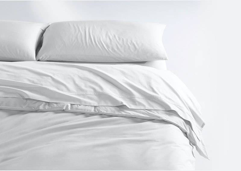 Weightless Cotton Sheet Set + Duvet Cover, White