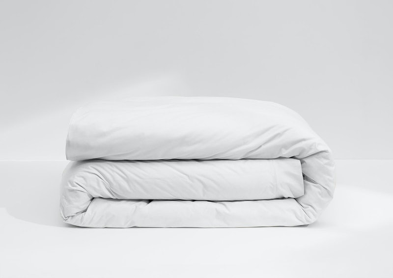 Weightless Cotton Duvet Cover, White
