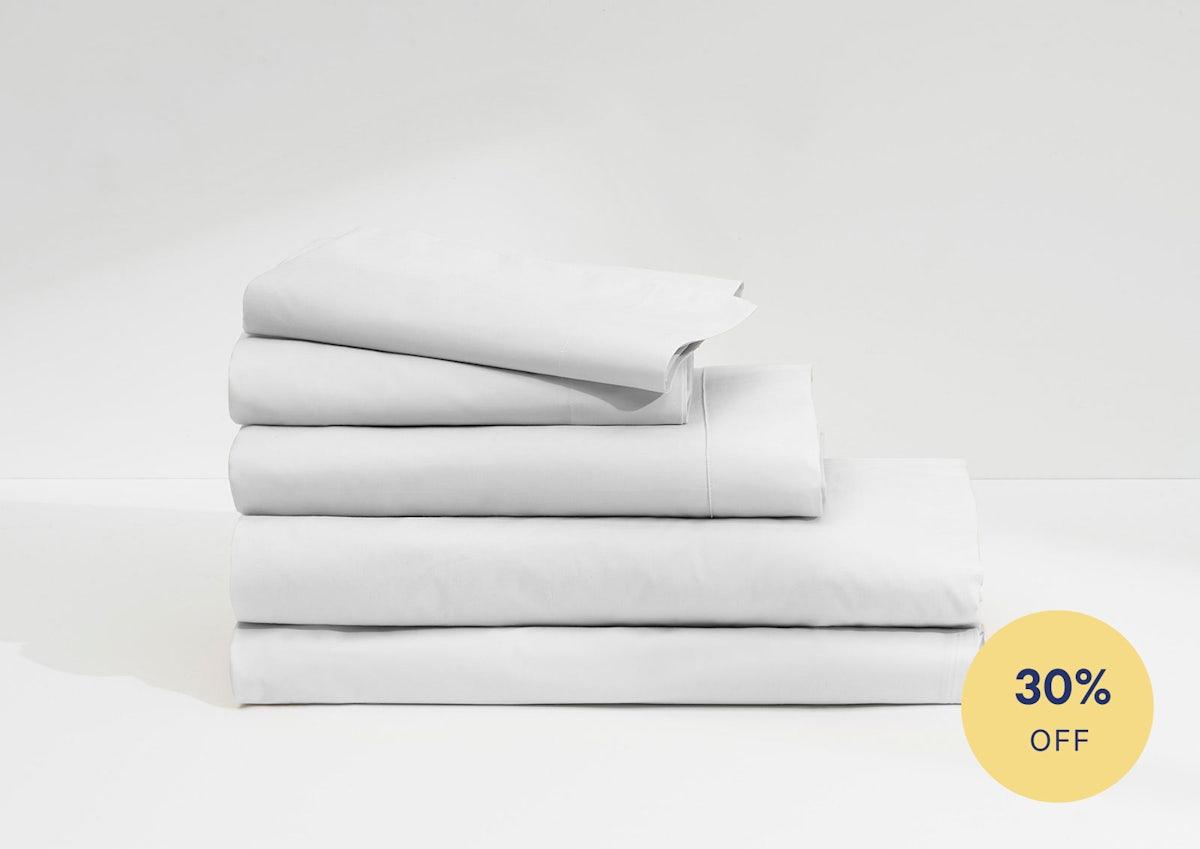 Casper Supima White Sheet Set And Duvet 1
