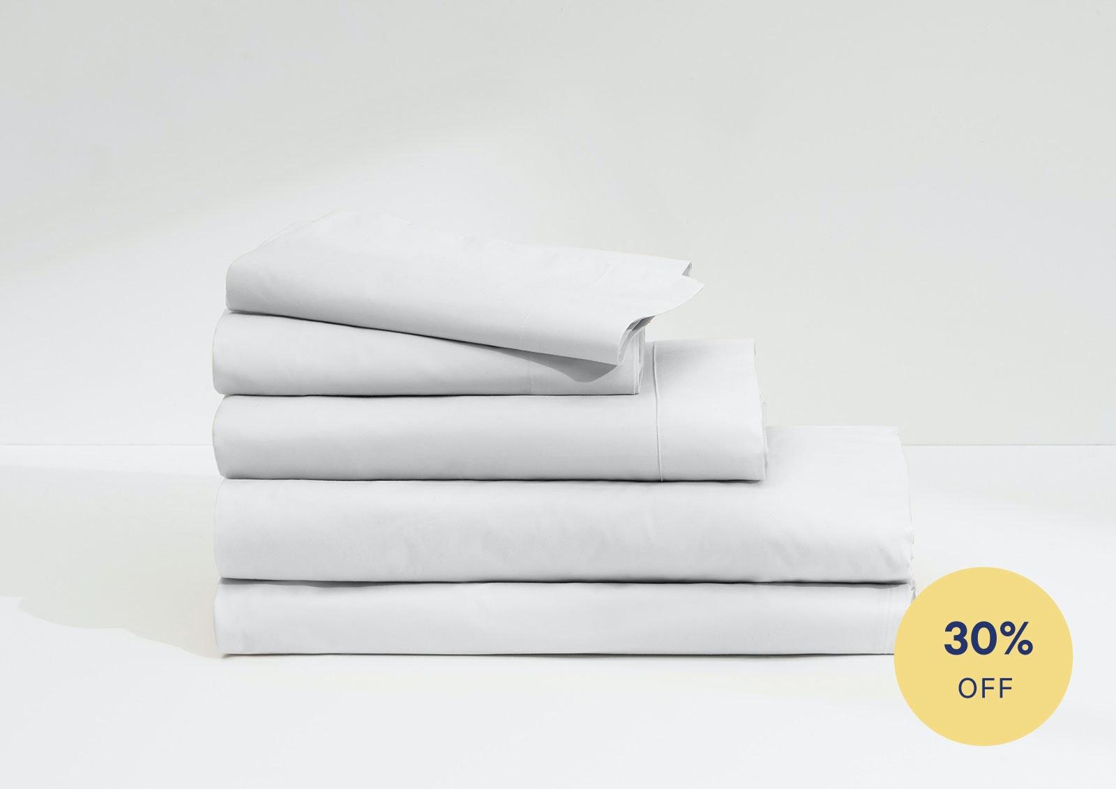 Nice Casper Supima White Sheet Set And Duvet 1