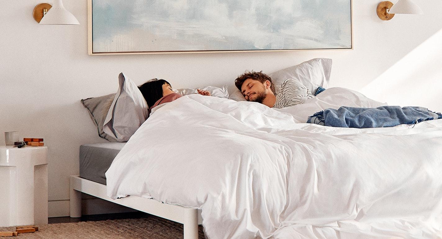 Couple In Casper Supima Sheets