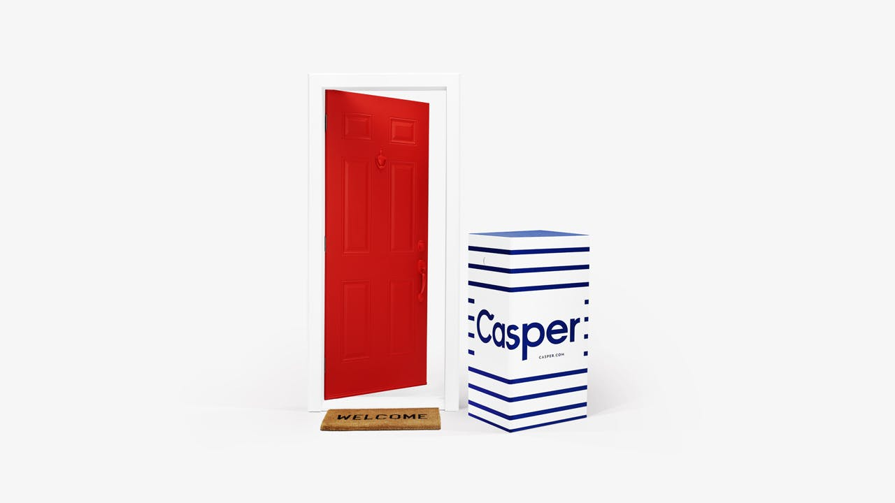 Door with Casper box