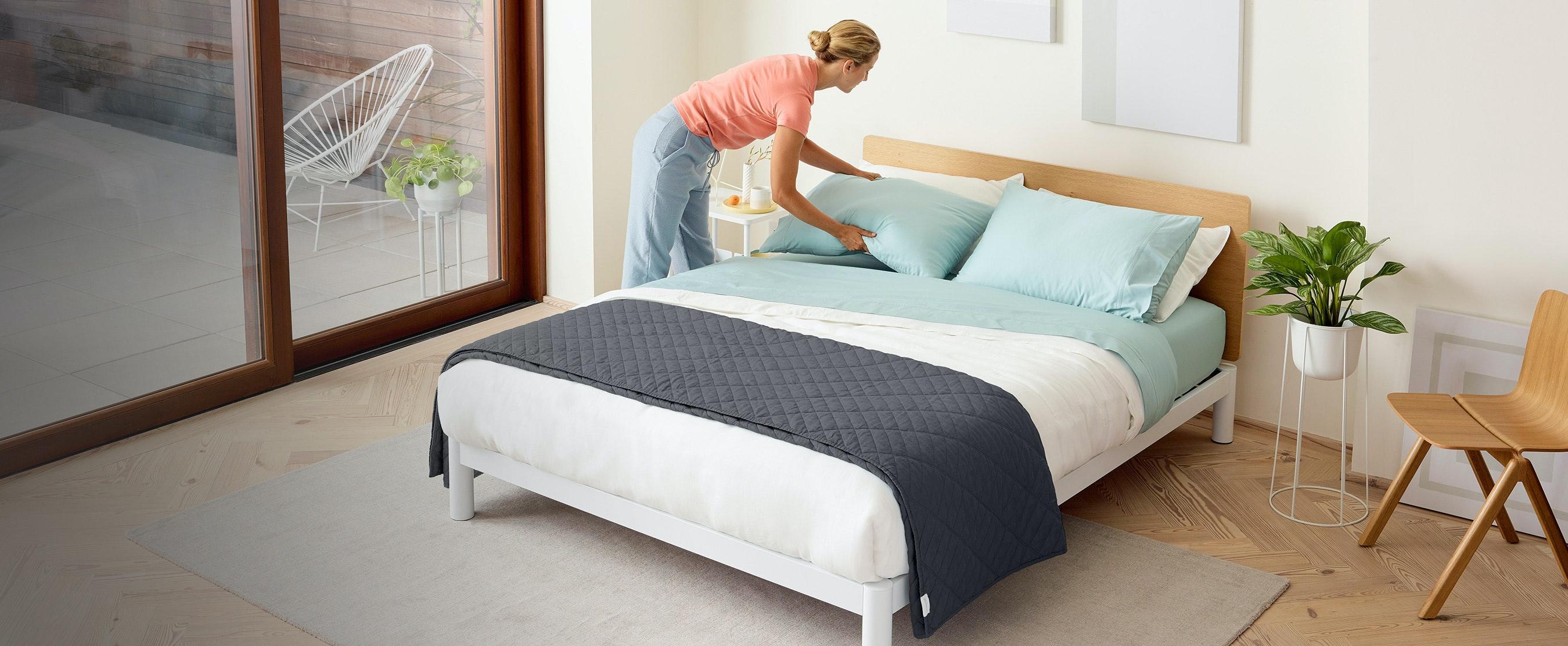 A Platform Bed Frame Fit For A Casper.