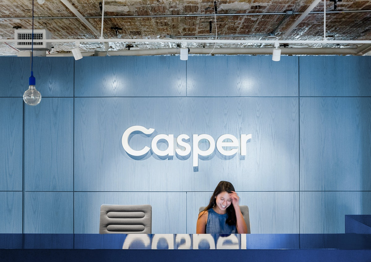 Casper employee in reception