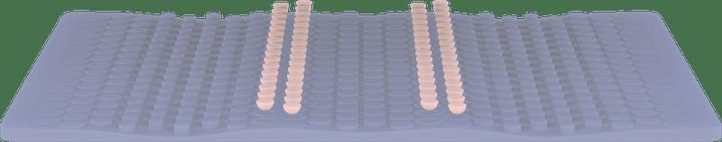 Wave Hybrid mattress first layer render