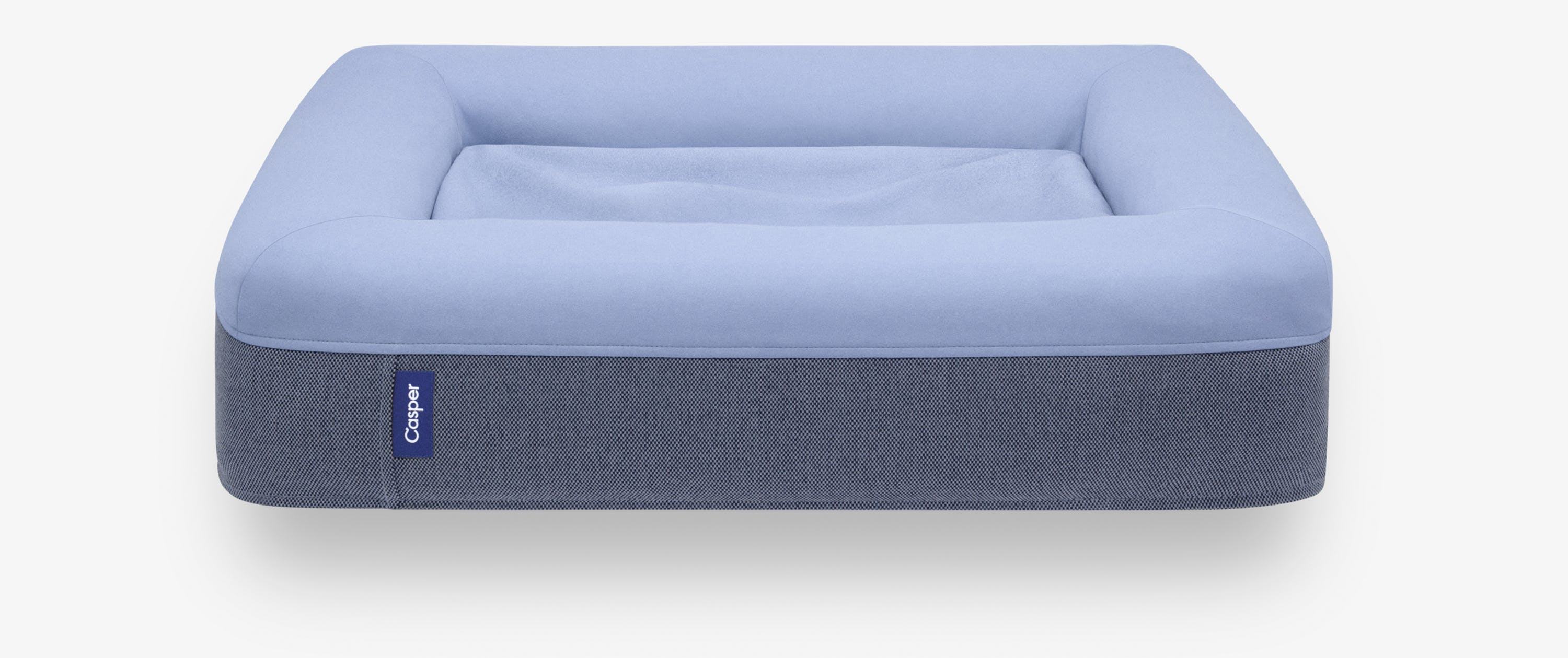 The blue Casper Dog Bed