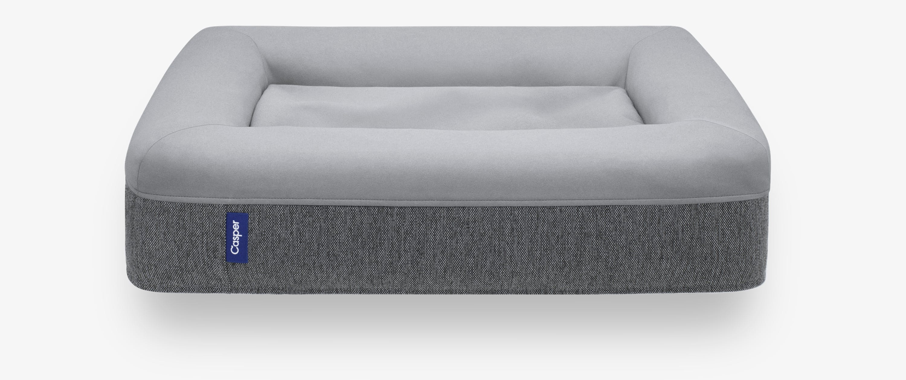 The gray Casper Dog Bed