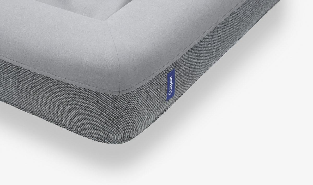 Corner detail of the gray Casper Dog Bed