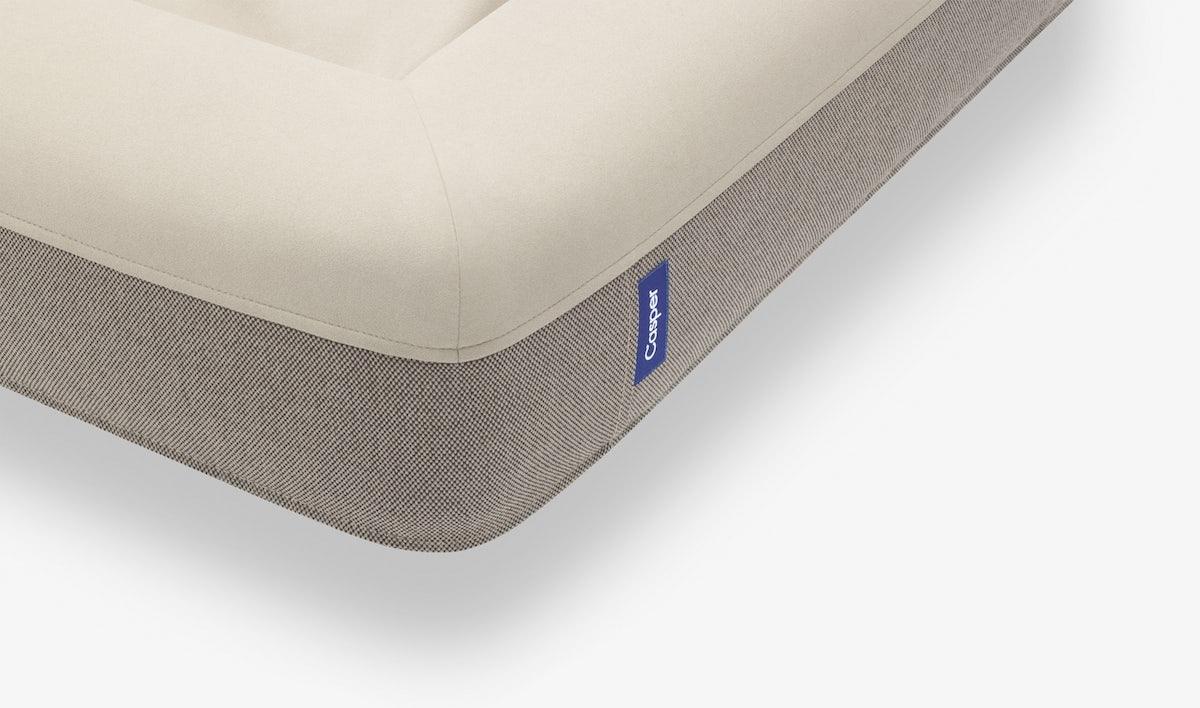 Corner detail of the sand Casper Dog Bed