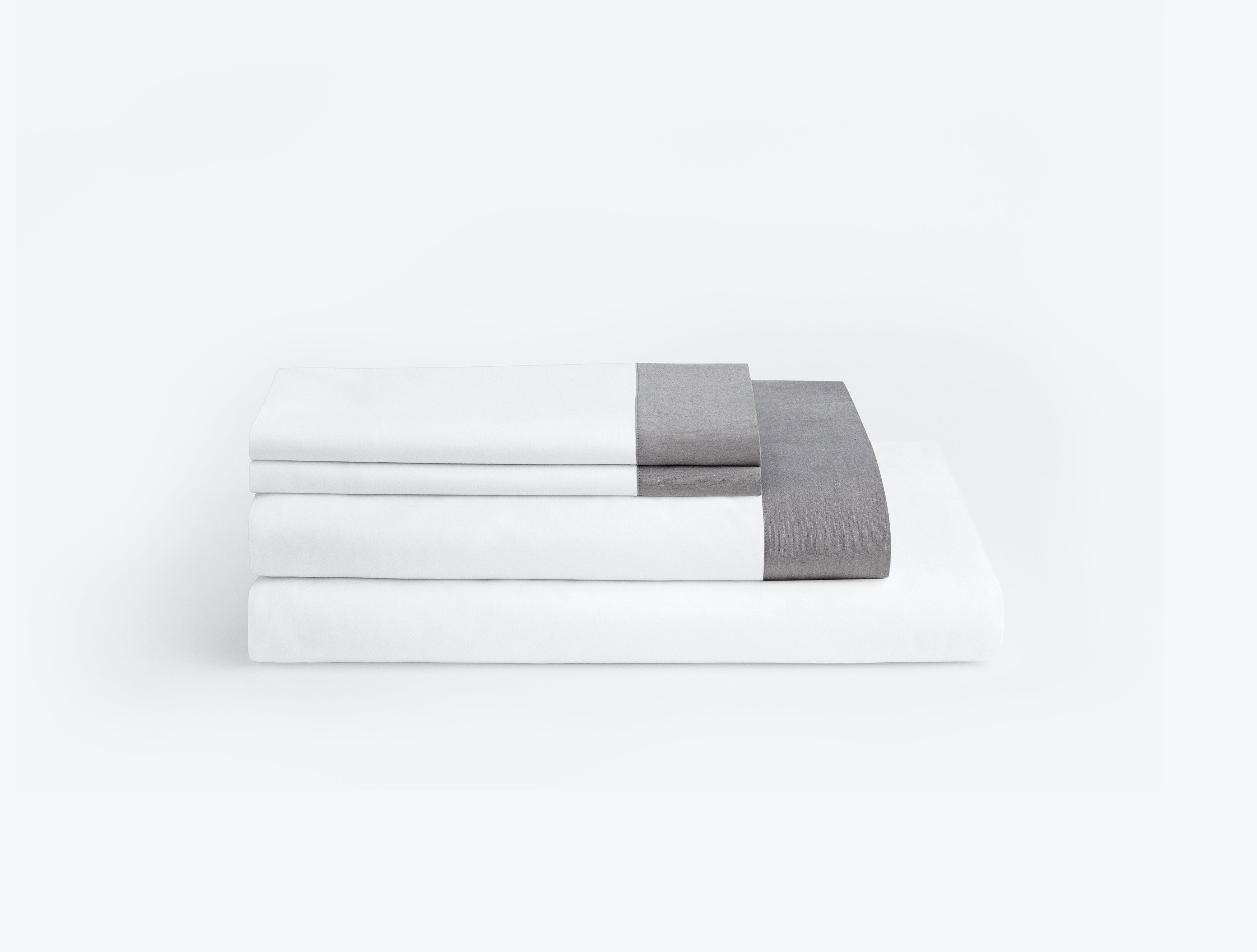 Casper White-Chambray Sheets (Folded)