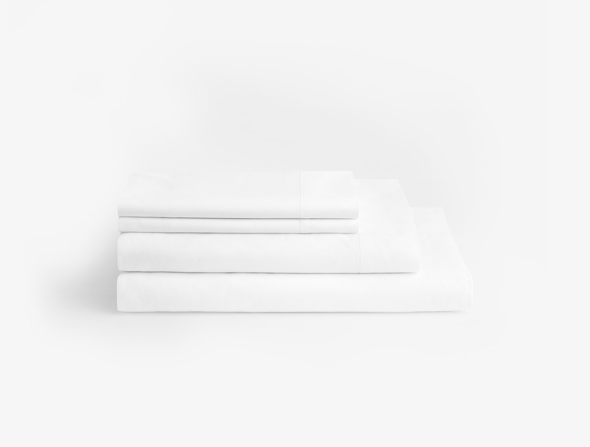 Casper White-White Sheets (Folded)