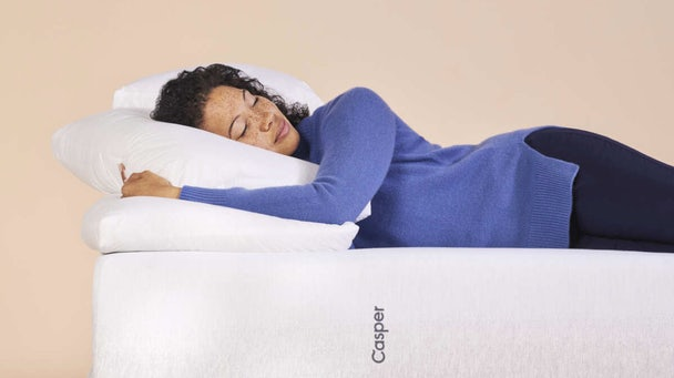 Person asleep on pillow