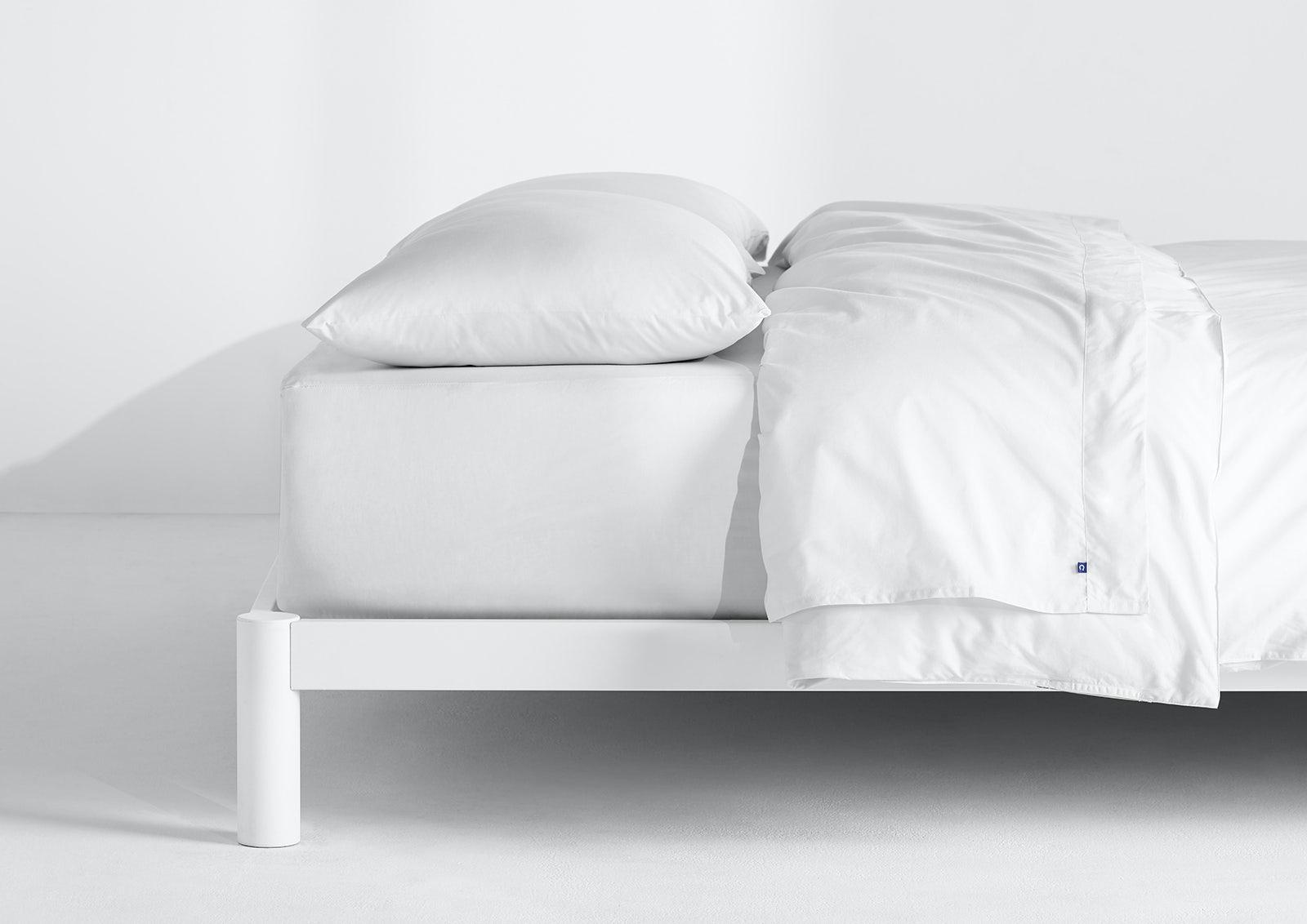 Sateen Sheet Set + Duvet Cover, White