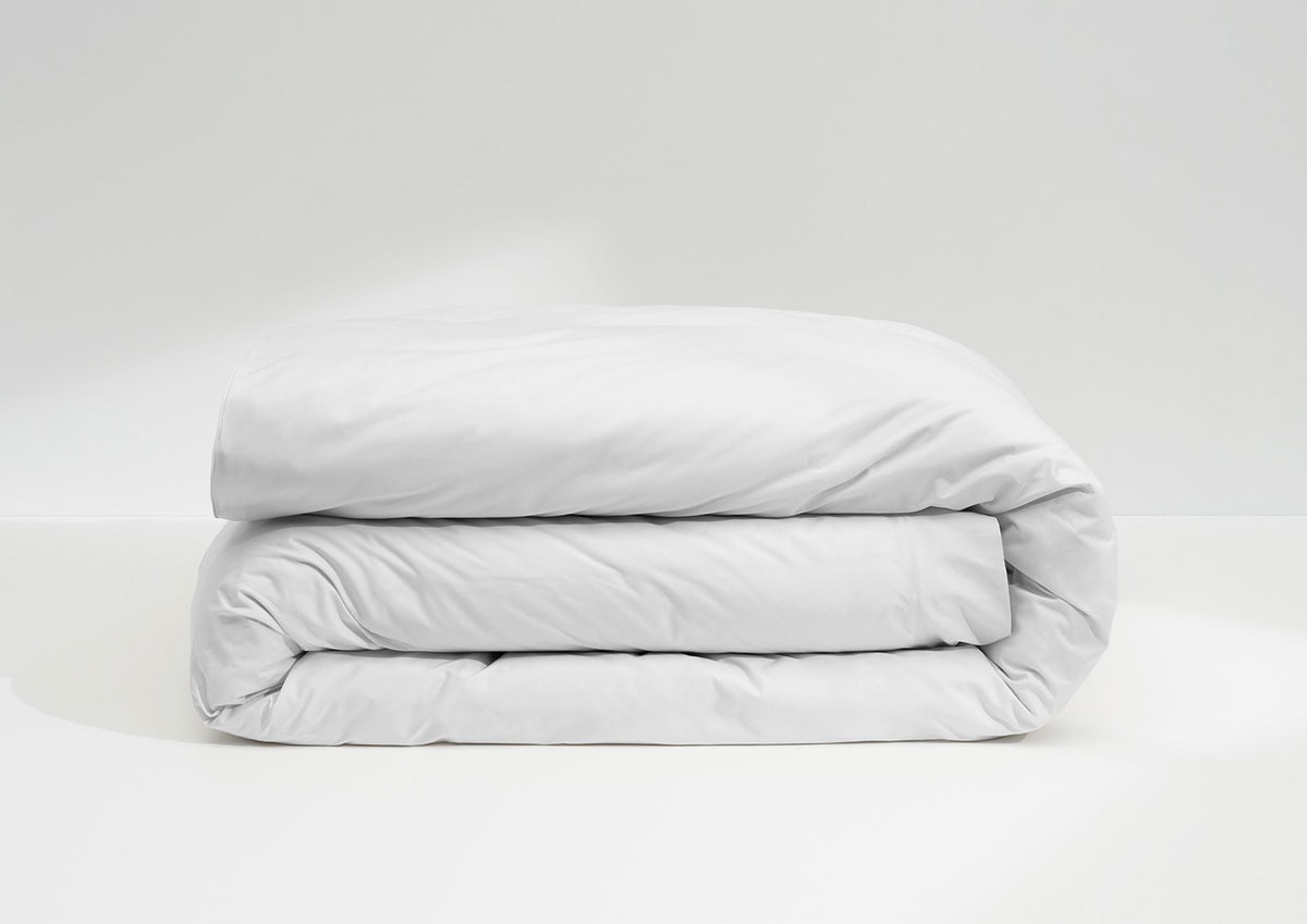 Sateen Duvet Cover, White