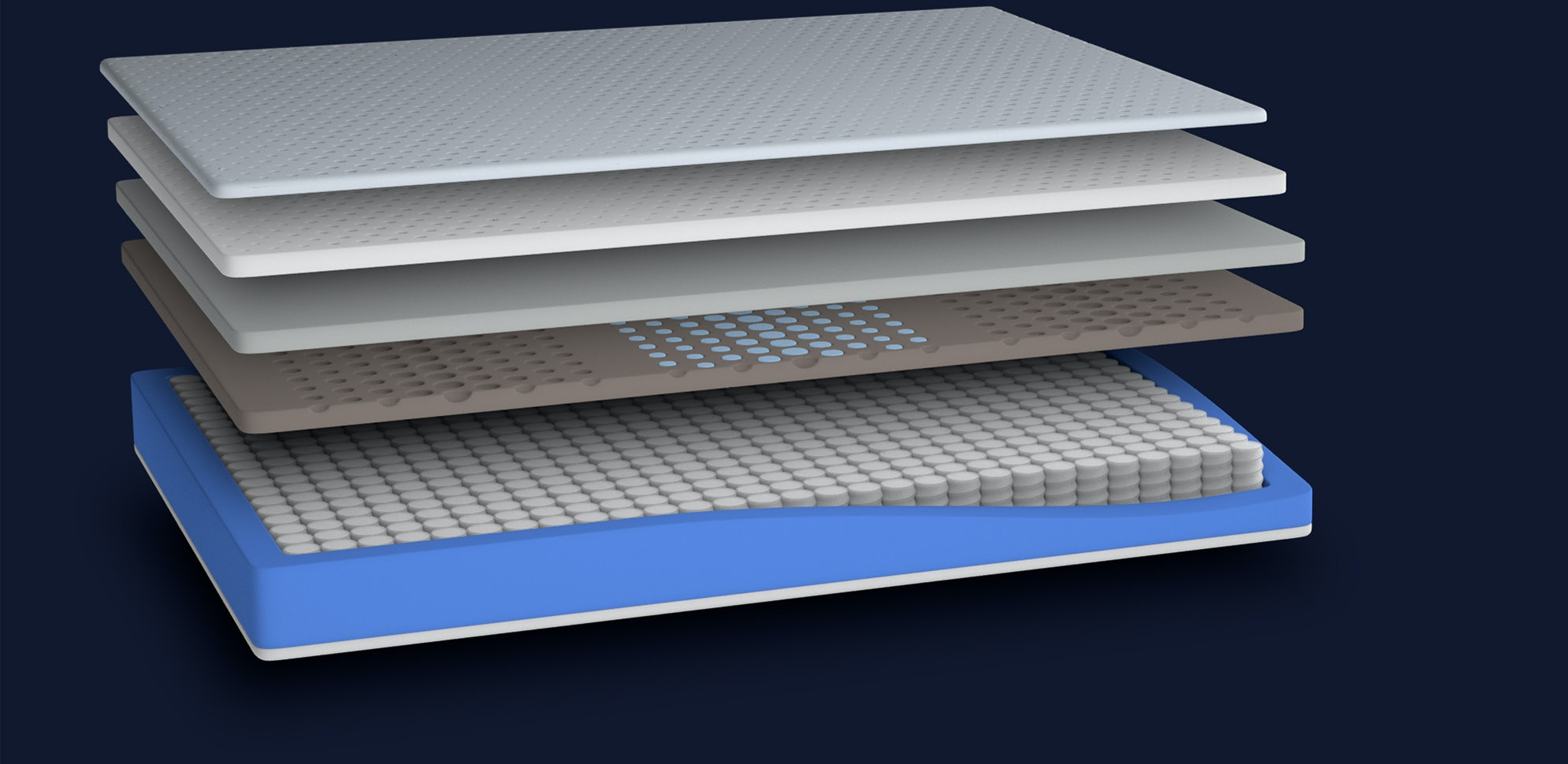 Casper Hybrid Wave Mattress layer composition.