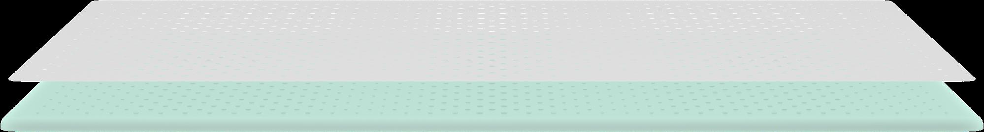 Wave Hybrid mattress top layer render