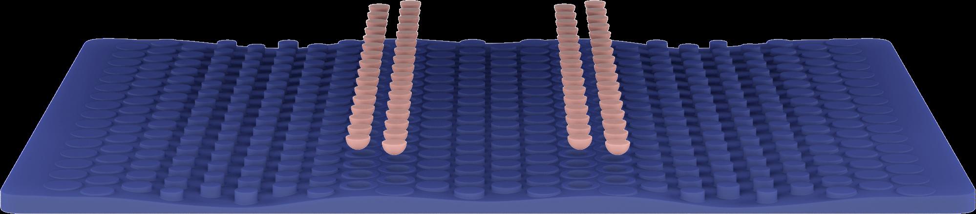 Wave Hybrid mattress fourth layer render