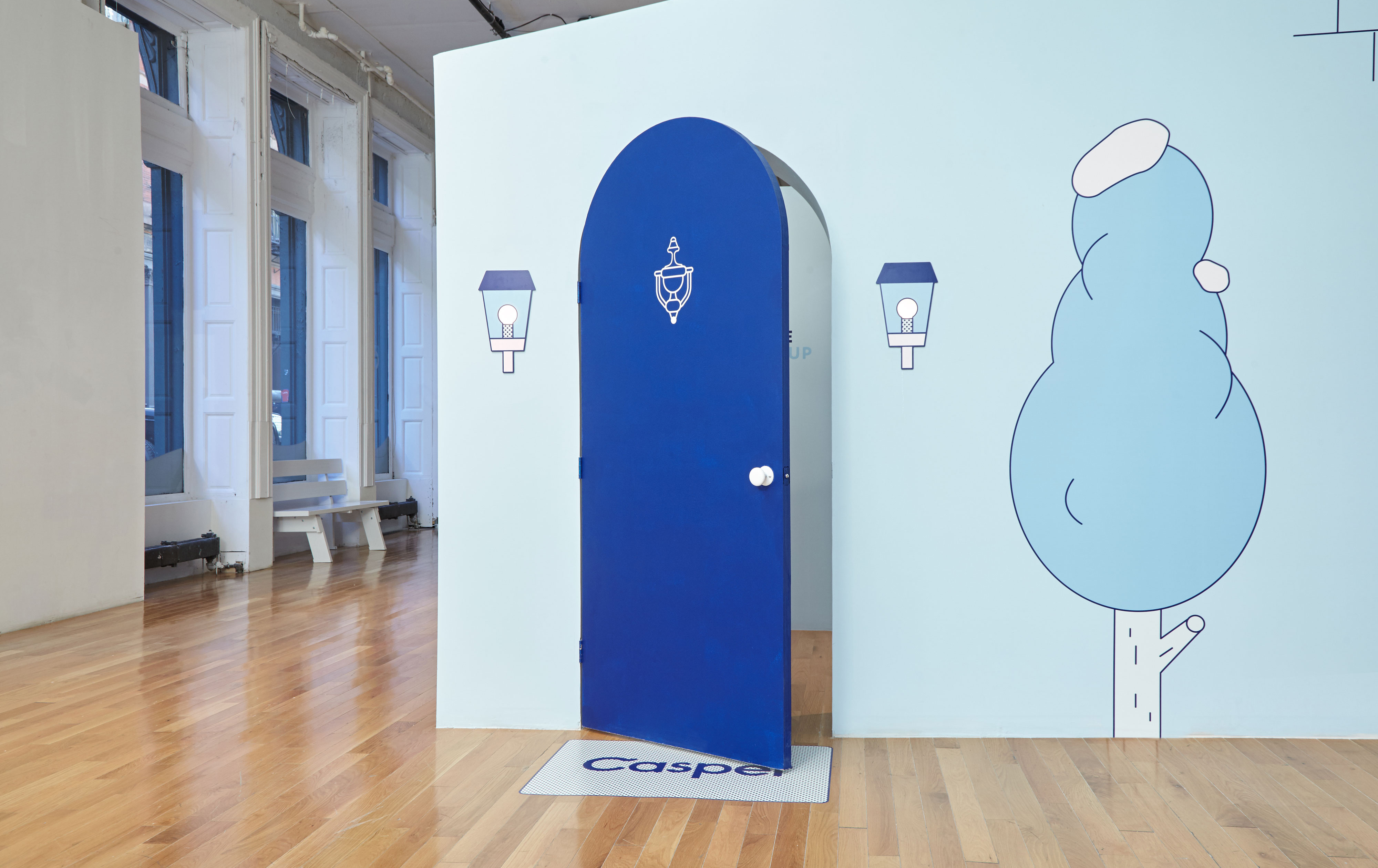 Casper NYC Pop-up Front Door