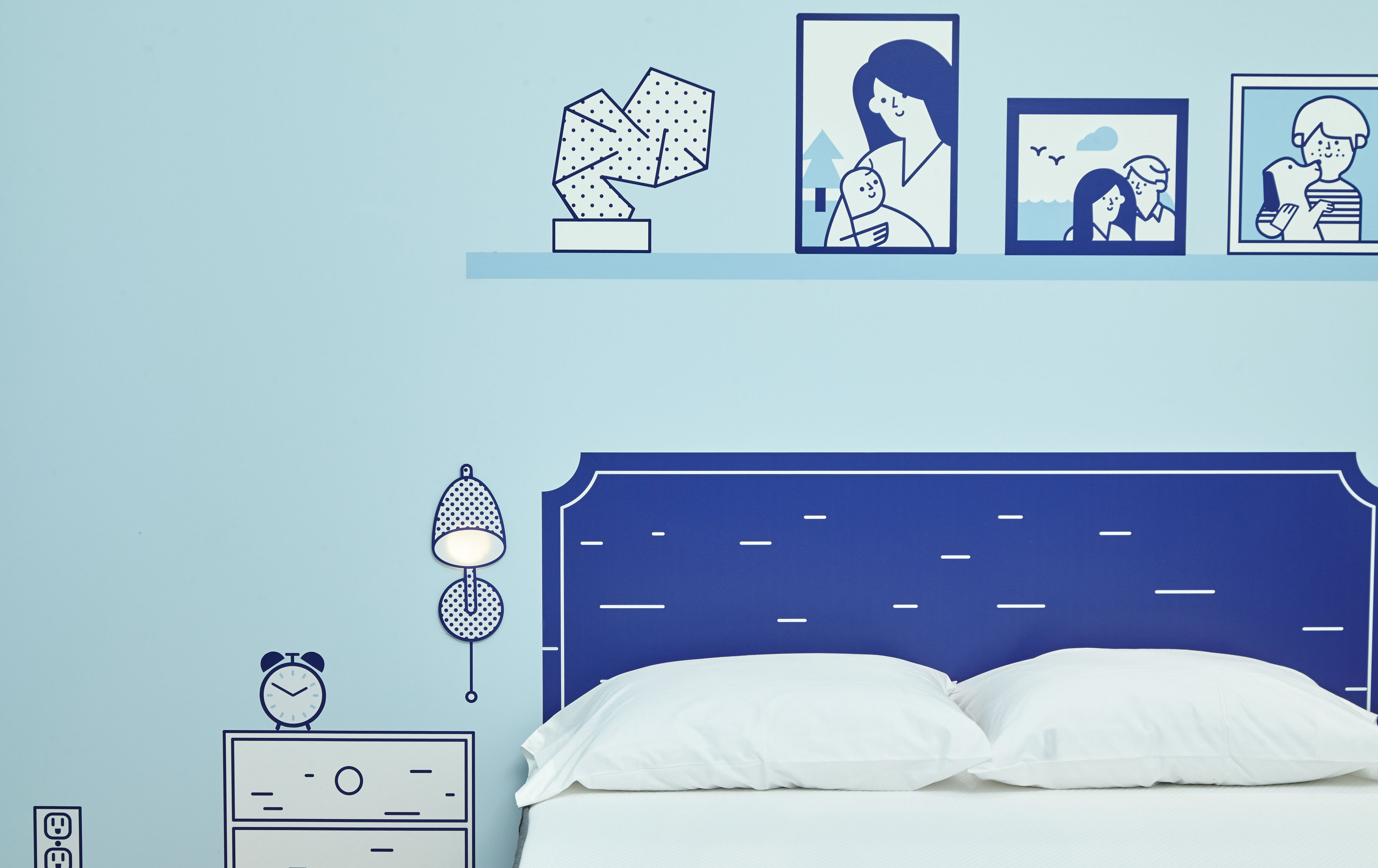 Casper NYC Pop-up Headboard
