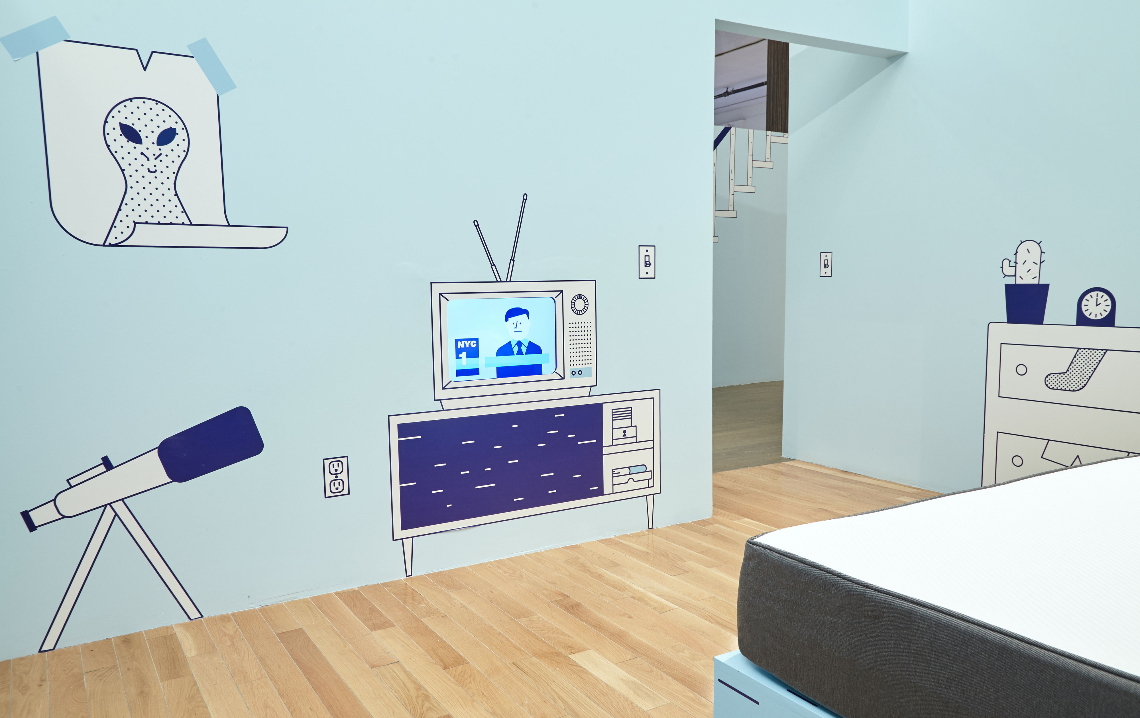 Casper NYC Pop-up TV